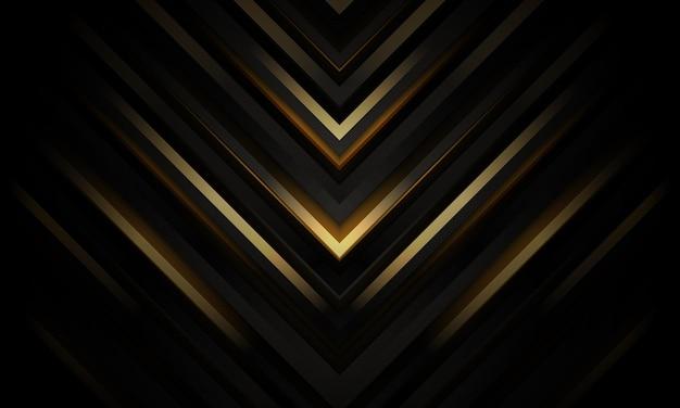 추상 검은색과 금색 럭셔리 기하학적 배경