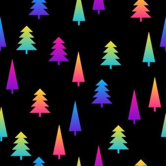 추상 검정과 무지개 원활한 패턴 배경. 생일 카드, 파티 초대장, 판매 벽지, 휴일 포장지, 직물, 가방 인쇄, 티셔츠, 워크샵 광고를 위한 현대적인 견본 페인트