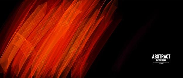 브러시 획 스타일이 있는 추상 검정색과 빨간색 배경