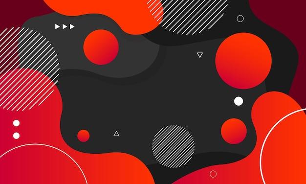 Абстрактный черный и красный цвет фона
