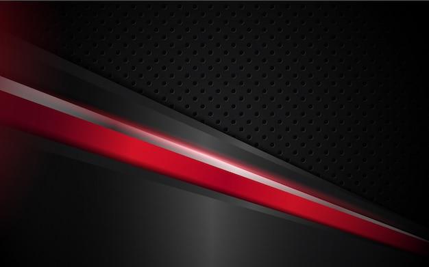 Абстрактный черный и красный полосатый фон