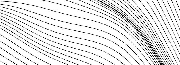 抽象的な黒と白の背景。線で最小限のベクトルの幾何学的な背景