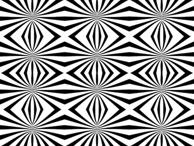 抽象的な黒と白の幾何学的なシームレスパターン背景。ベクトルイラスト