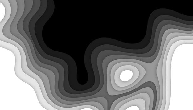 추상 흑백 papercut 배경