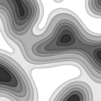 추상 흑백 papercut 사각형 배경