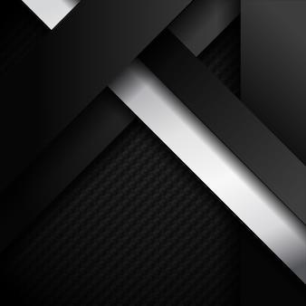 추상 검은 색과 흰색 줄무늬 대각선 어두운 배경