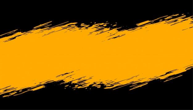 抽象的な黒と黄色のグランジ背景