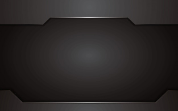 Abstract black background technology concept design. vector template background.