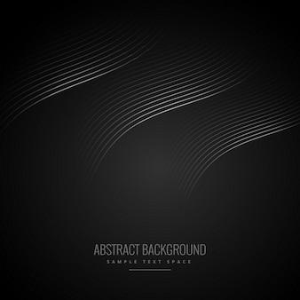 Sfondo nero astratto con linee curve