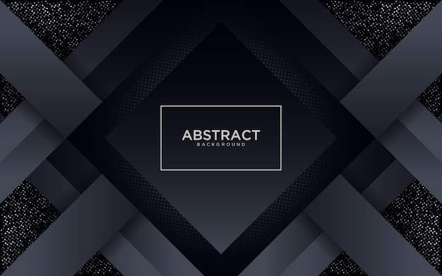 Abstract black background with geometric shape and glitter