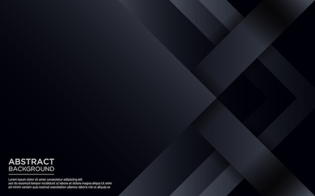 Abstract black background with geometric shape