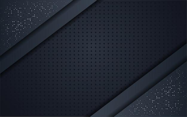 Абстрактный черный фон с блеском металлик