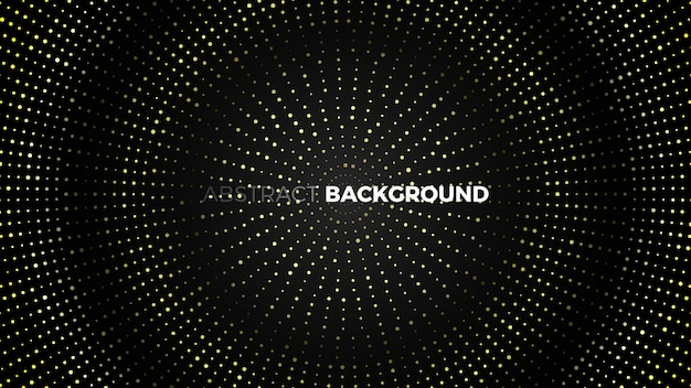 Abstract black background with golden dots.  illustration.
