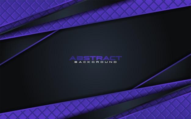 オーバーラップテクスチャと紫の要素を持つ抽象的な黒の背景