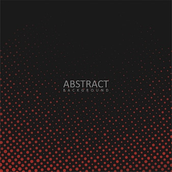 Abstract black background with red dots