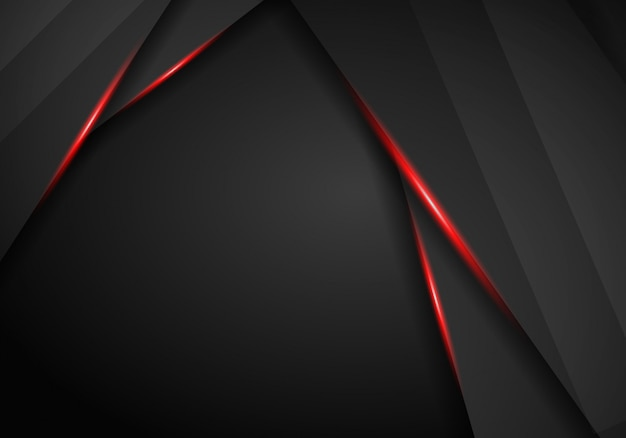 Abstract black background with red frame