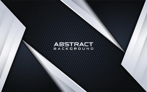 Абстрактный черный фон с серебряным градиентом