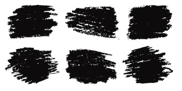 Абстрактная черная кисть