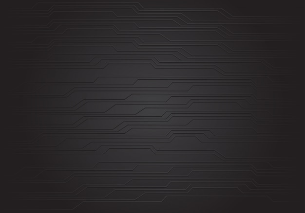 Abstract black circuit background texture.