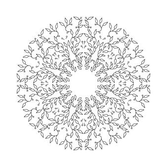 추상 검은 색 프레임 디자인