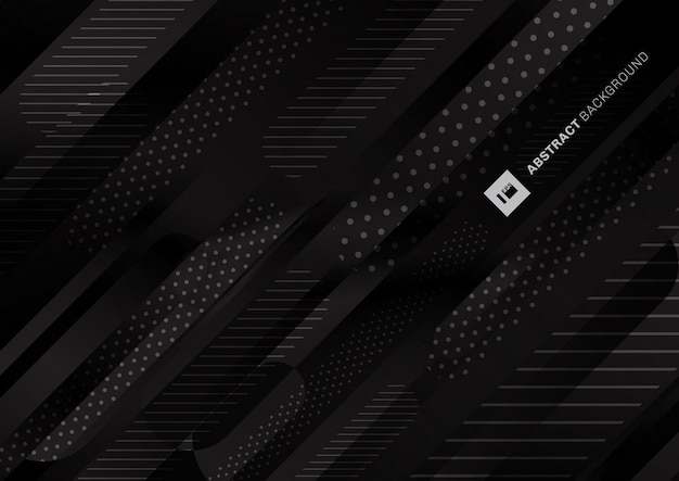 Abstract black color pattern liquid gradient lines background.