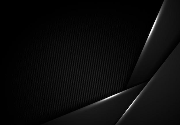ハイテク重複背景の抽象的な黒のデザイン。