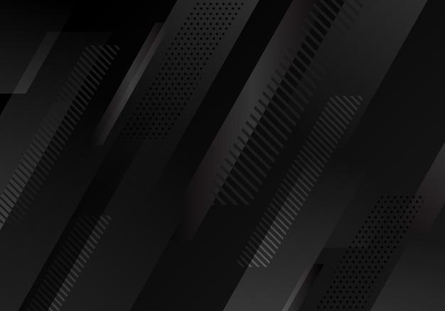 Abstract black diagonal stripes pattern on dark background. vector illustration