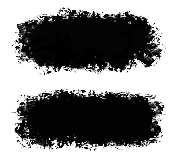抽象的な黒い汚れたグランジセット