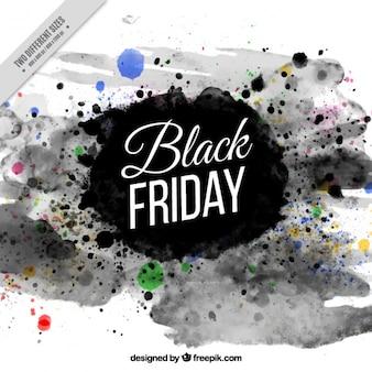Abstract black venerdì sfondo di inchiostro