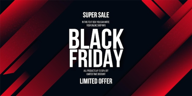 Abstract black friday background with red shapes