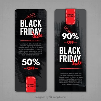 Abstract black friday banner