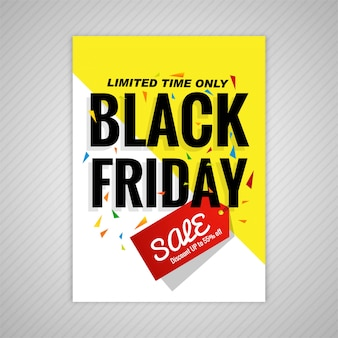 Abstract black friday brochure sale template