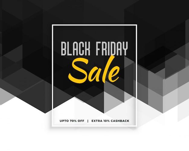 Abstract black friday creative banner design