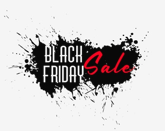 Abstract black friday ink splash background