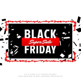 Abstract black friday sale advertising background