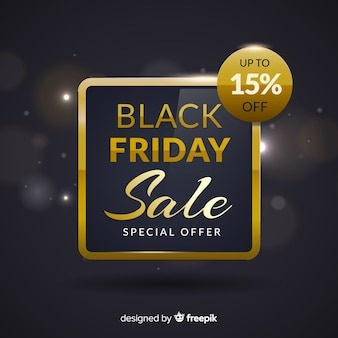 Abstract black friday sale background in black and gold