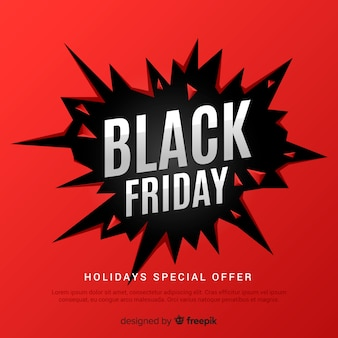 Abstract black friday sale background in black and red