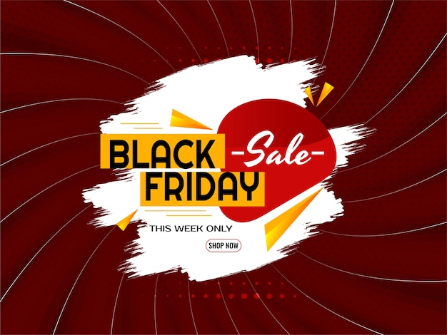 Abstract black friday sale comic rays style background vector