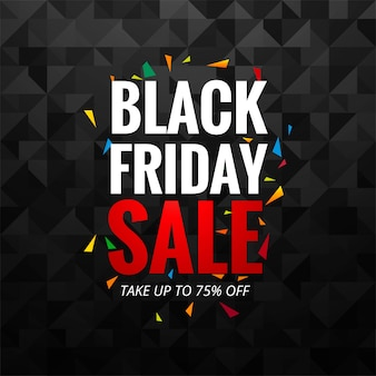 Abstract black friday sale layout background vector