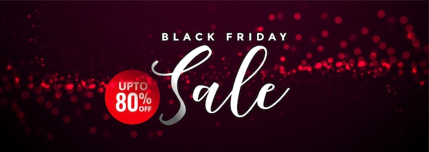 Abstract black friday sale and offer banner template