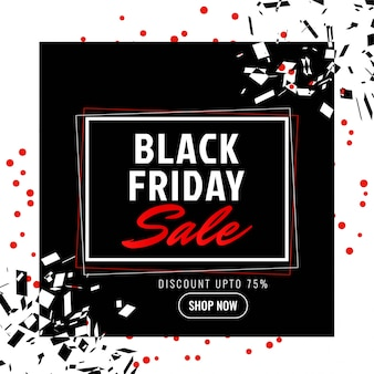 Sfondo promozionale di vendita astratta black friday