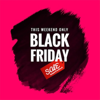 Abstract black friday sale with brush design