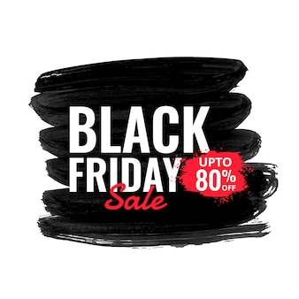 Abstract black friday sale with paint effect background