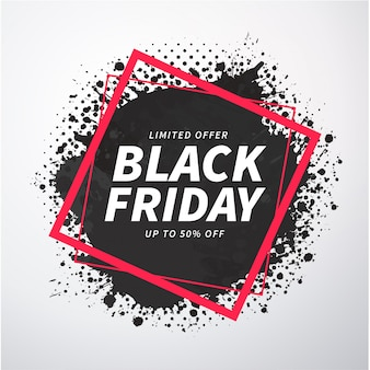 Abstract black friday splash banner