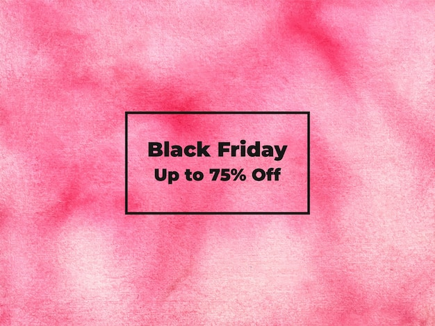 Abstract black friday watercolor background texture