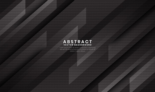 Abstract black geometric background with carbon fiber texture