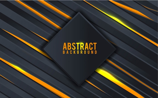 Abstract black and gold background - vector