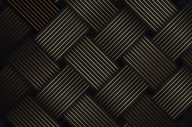 Abstract black and gold background with diagonal lines