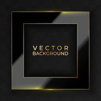 Abstract black and gold luxury background vector illustration