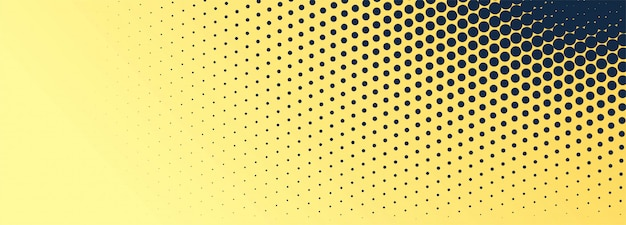 Abstract black and golden dotted banner background